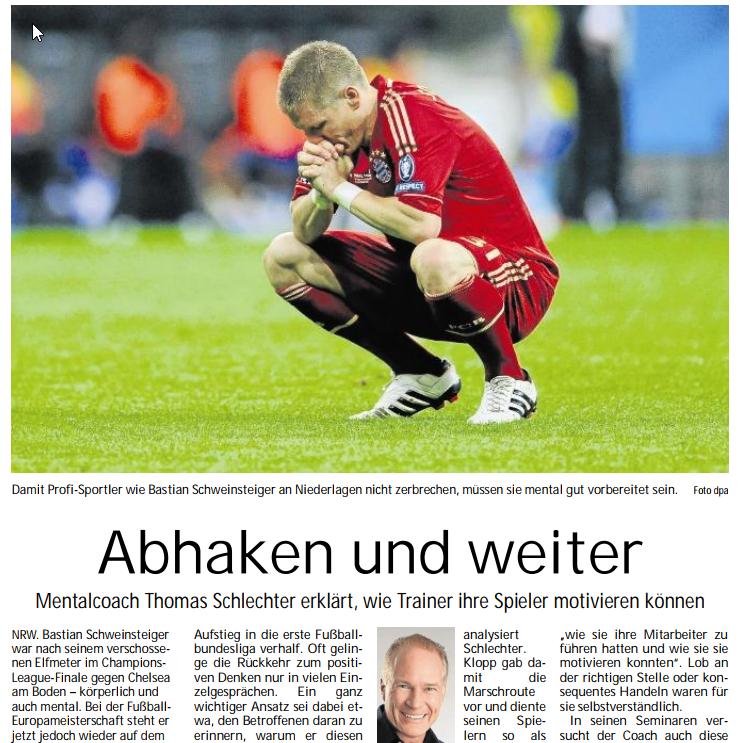 Mentaltraining für Fußballer wie Bastian Schweinsteiger