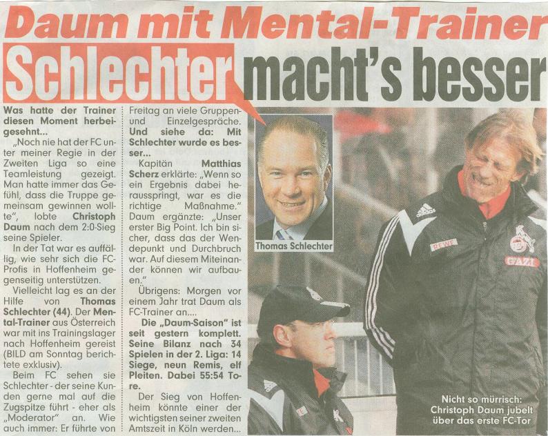 Thomas Schlechter in der Bild Zeitung 11/2007 - Schlechter macht's besser