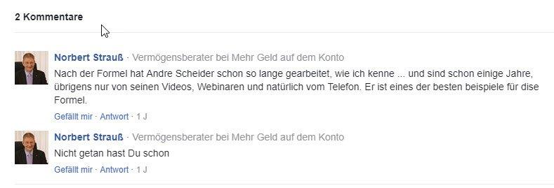 Kommentare zu André Schneider - 6 A Methode bei Thomas Schlechter