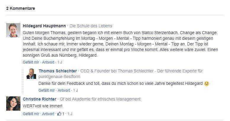 Kommentare zum Mentaltraining von Thomas Schlechter